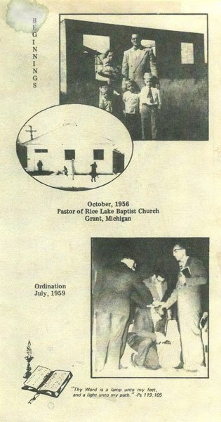 Bulletin Clipping from 1956 showing the Ordination of Ernest Thompson